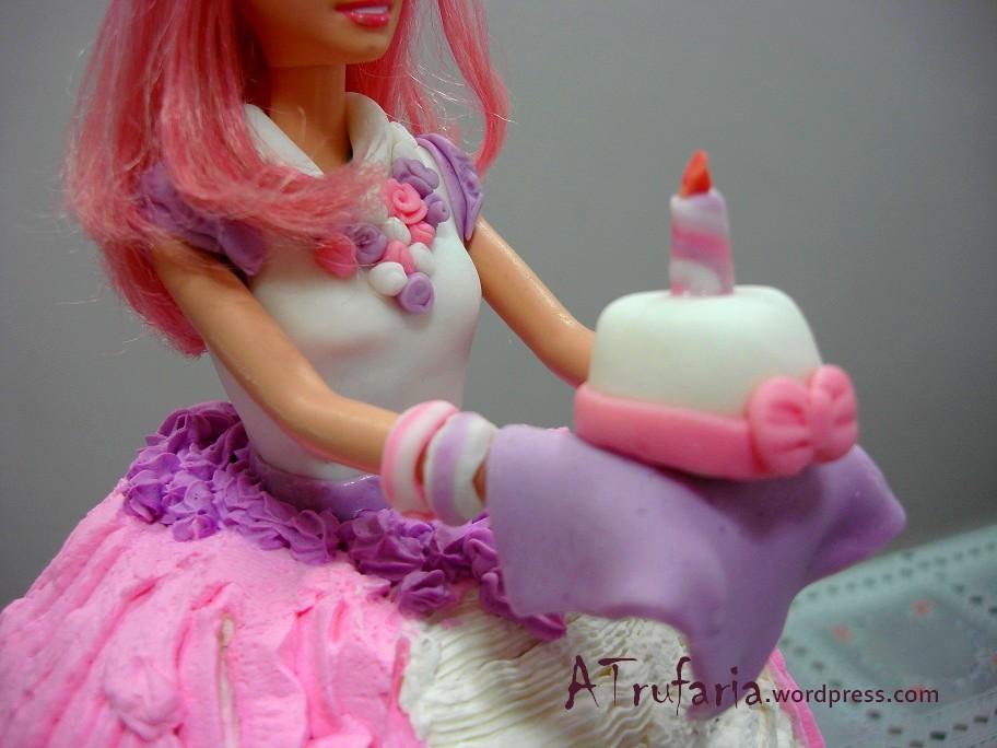 Bolo Barbie Detalhe