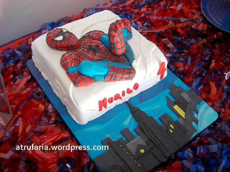 Homem aranha a festa a trufaria sobremesas especiais bolo e tabuleiro homem aranha 3d altavistaventures Gallery