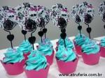 Mini Cupcake Azul