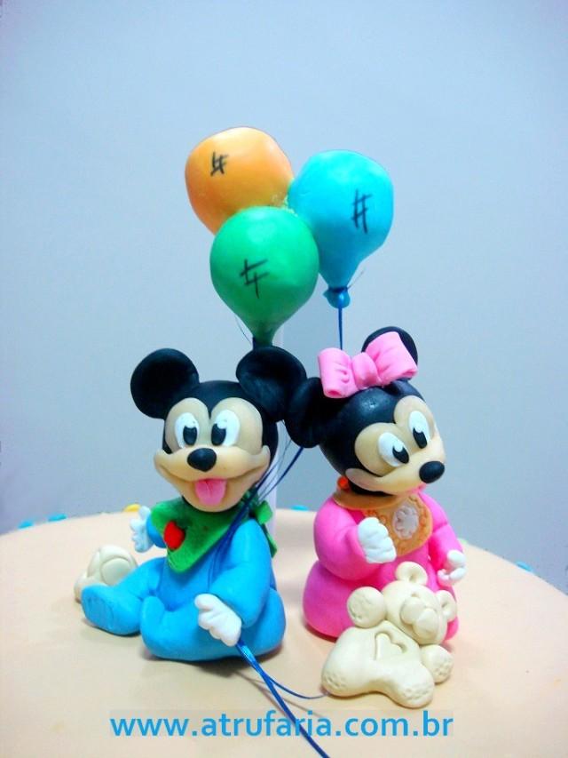 Topo com Minnie e Mickey babies...