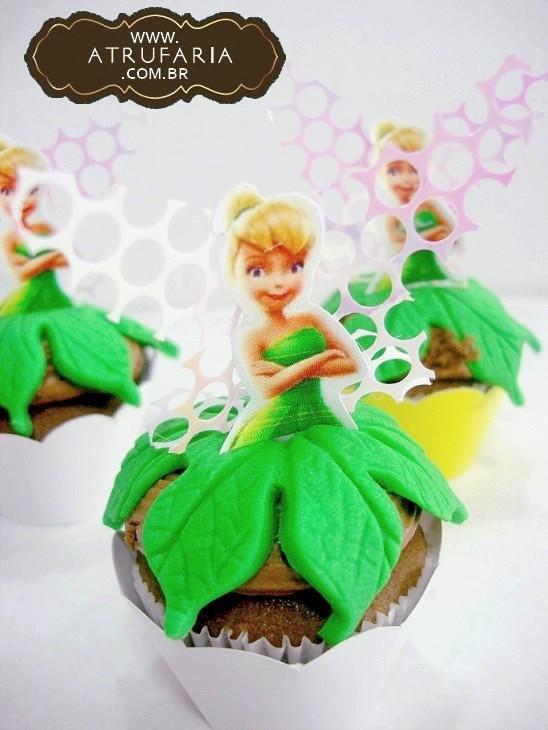 Mini Cupcake de chocolate e brigadeiro.